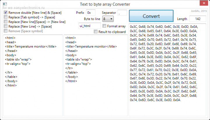 Converter HTML to HEX