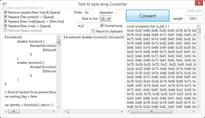 Text to byte array Converter